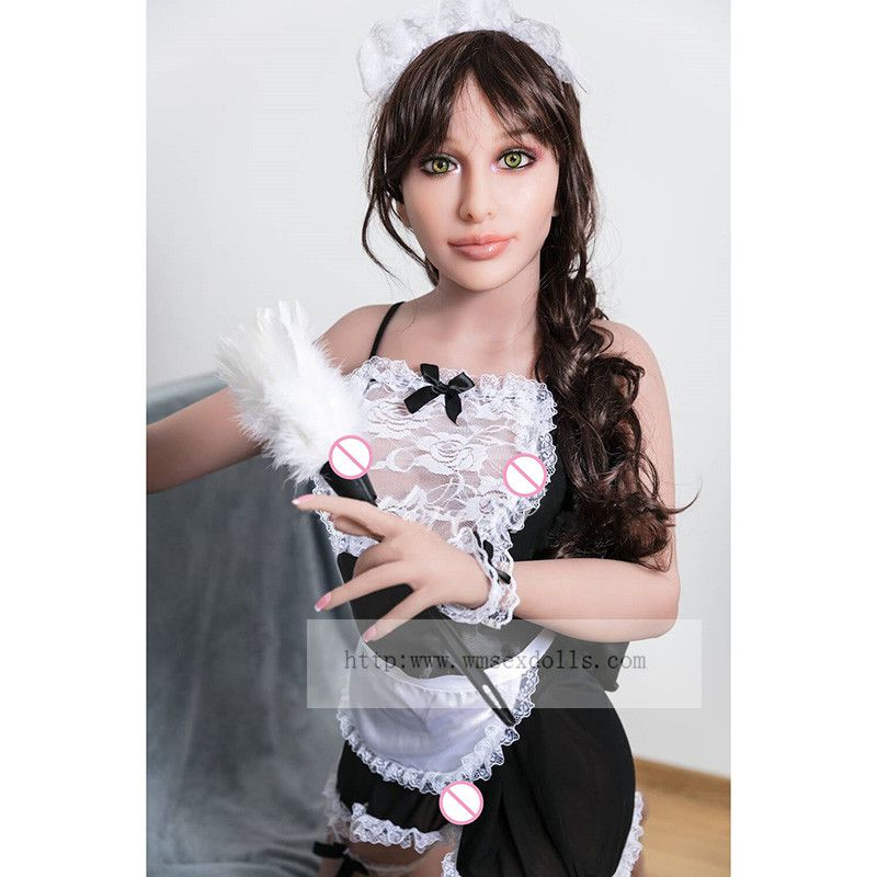 157cm Realistic Full Silicone Sex Dolls Sexy Maid Love Doll